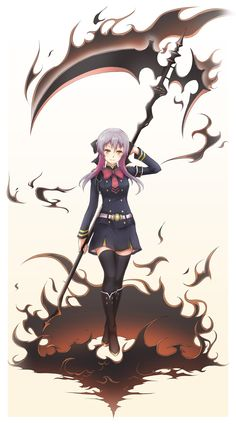 Hiiragi Shinoa | owari no seraph. i found her annoying but she's okay I guess.
