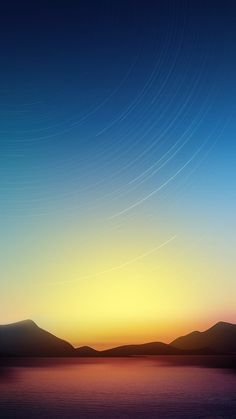 Stars Line and Lake iPhone 6 plus wallpaper - sunset, mountain, sky, water, night