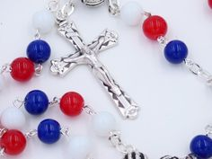 LOS ANGELES LA CLIPPERS NBA BASKETBALL ROSARY FROM ROSARYCREATIONS.COM