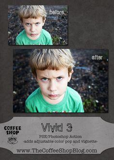 The CoffeeShop Blog: CoffeeShop Vivid 3 Photoshop and PSE Action!
