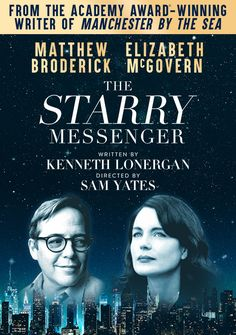 Hollywood star and multiple Tony Award-winning Broadway legend Matthew Broderick makes his West End debut in The Starry Messenger Limited 13 Week Season from 16/05