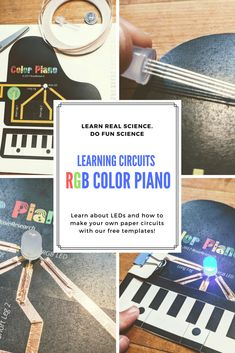 Learn how to mix colors in RGB color space as we make an RGB LED color piano with copper tape, a coin cell battery, and an RGB. This is a great project to not only learn about how to make circuits but also how colors mix! Science Activities For Kids, Free Activities, Color Activities, Science Experiments Kids, Genius Hour, Piano Lessons, Teaching Tools, Color Mixing, Paper Circuit
