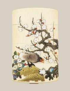 A three-case ivory Inro. Artist Masamune Saku., Japan, late 19th century
