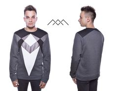 Men sweatshirt with unusual asymmetric shape - very fashionable! #sweatshirt #fashionable #men