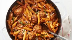 One-Pot Sausage Meatballs with Creamy Tomato Penne. With just a few basic ingredients, this rich and creamy one-pot pasta dinner turns simple sausage meatballs into a beautiful meal with weeknight ease. Pork Recipes, Slow Cooker Recipes, Pasta Recipes, Dinner Recipes, Cooking Recipes, Dinner Ideas, Meal Ideas, Meatball Recipes, Al Dente