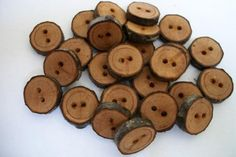 Natural wood buttons