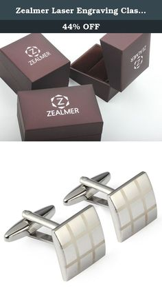 Zealmer Laser Engraving Classic Silver Cufflinks Set for French Sleeve Dress Shirts with Gift Box. At Zealmer Jewelry, we believe in our products. That's why we back them all with an 92-day warranty and provide friendly, easy-to-reach support.