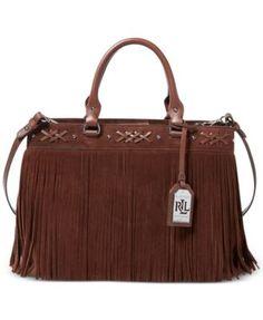 ccb078e17938 Lauren Ralph Lauren Barton Suede Emery Tote Handbags   Accessories - Macy s