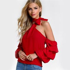 Asymmetric One Shoulder Blouse