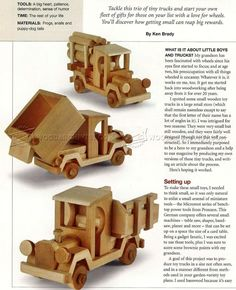 Wooden Toy Truck Plans - Wooden Toy Plans