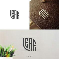 Typography Logo, Logo Branding, Branding Design, Logos, Logo Process, Logo New, Crystal Logo, Leaf Logo, Communication Design