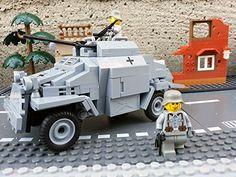 Modbrix 2366 - ✠ Wehrmacht Bausteine Panzerspähwagen Sd.Kfz. 222 inkl. custom Wehrmacht Soldaten aus original Lego© Teilen ✠ Modbrix http://www.amazon.de/dp/B01CGCFLEY/ref=cm_sw_r_pi_dp_r073wb1GY0WFZ