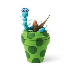 Clay Pot Apple with Worm