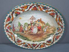 Vintage Daher England Tin Tray Oval Metal by DiverseCollectibles, $12.95