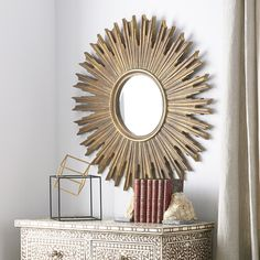 A lightweight mirror that adds lots of drama to a space.