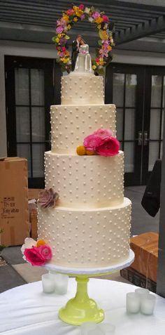 Swiss Dot Classic Wedding Cake