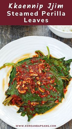 A quick and delicious side dish you can make with summer's abundant perilla leaves. Vietnamese Recipes, Thai Recipes, Asian Recipes, Asian Foods, Korean Food, Chinese Food, Japanese Food, Potluck Recipes, Bubble Tea