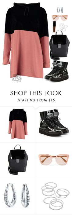 """""""Fall Back"""" by uniquely-flawed ❤ liked on Polyvore featuring Boohoo, Kenzo, Hunter, Prada, Bling Jewelry, LC Lauren Conrad and Smashbox"""