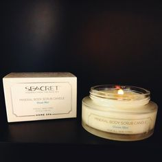 Mineral Body Scrub Candle available in Ocean Mist and Lemongrass. Msg me to get your hands on one!