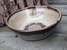 Ceramic Ring Bowl Gift For Her Trinket Dish by CropCircleClay This entire line of pottery is beautiful