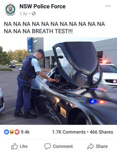 """Australia is a different world"" This is really normal for us. I follow NSW Police on Facebook and this isn't strange to me."