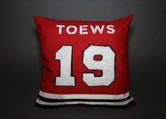Chicago Blackhawks Jersey Throw Pillow by DandyFunk on Etsy, $45.00