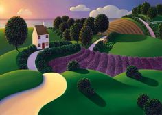 Paul Corfield - Lavender Sunset