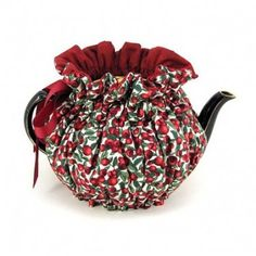 The attractive Cape Cranberries snuggie tea cozy has an extra thick insulated lining to keep your tea warm. Come to the English Tea Store and see all of our tea accessories and delicious tea, chocolates, cookies, and scone mixes. English Tea Store, Cranberry Tea, Tea Warmer, Teapot Cover, Tea Cozy, Rose Tea, Christmas Tea, Cotton Quilting Fabric, How To Make Tea
