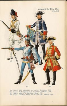 UNIFORMES MILITARES guerra de los siete años 1756-1763