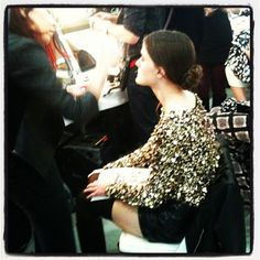 We love gold + sequins! Backstage at the @alice_olivia F/W '12 #fashion week presentation. #style
