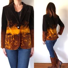 One Of A Kind Ombre Bleached Velvet Blazer // by TheVelvetMoon, $54.00