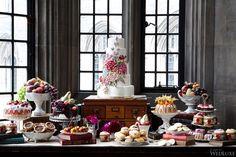 #desserttablescape | Literary Society | WedLuxe Magazine #weddingcake #desserttable #inspiration