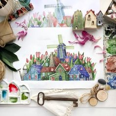 Artist Tonia Tkach paints storybook illustrations inspired by. Watercolor Paint Set, Watercolor Sketch, Watercolor Illustration, Watercolor Flowers, Watercolor Paintings, Fairy Land, Watercolor Techniques, Learn To Paint, Amazing Art