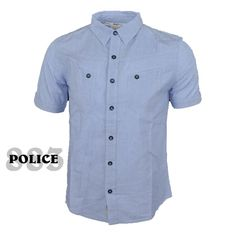 96e24d0fc8816d 883  POLICE ROWL  Short Sleeve Shirt in Blue S