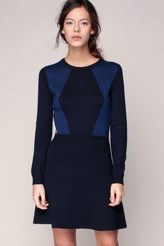 Robe marine imprimé bleu patch logo brodé Lacoste prix Robe Monshowroom 160.00 €