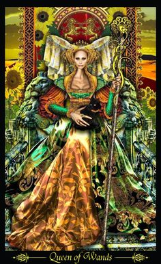 Illuminati tarot deck  Queen of wands