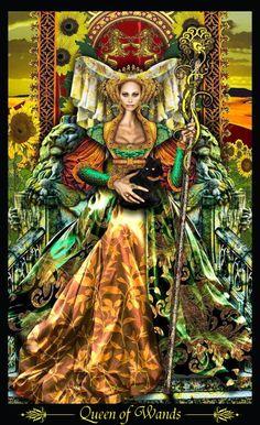 Illuminati tarot deck  Queen of wands