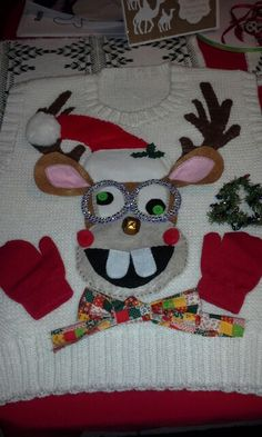 My homemade ugly Christmas sweater. More
