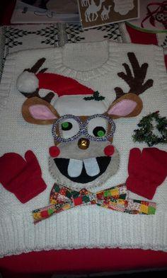 My homemade ugly Christmas sweater.