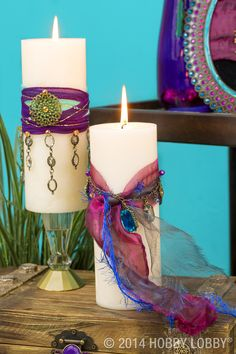 Dress up everyday candles for a glam new look!