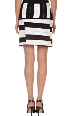 Mixed-Stripe Skirt