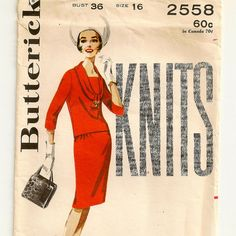 TwoPiece Knit Dress Pattern by SoSewSome on Etsy, $15.00