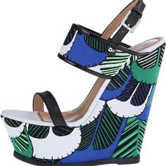 Dsquared2 Verde blue cotone wedge Wedges