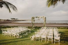 Dream wedding at Villa Pushpapuri in Ketewel, Bali. Photos by Terralogical, Styling by Inside the Knot, Set-up by Bali Event Hire, Make up by Putri Bali Make Up, Gowns by Jessicacindy and flowers by Gloriosa Bali Wedding, Venue by Elite Havens.