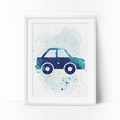 Car Prints Car Nursery Art Transportation wall art by BigFamilyArt