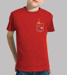 b05f38a43da5b Camiseta con bolsillo pecera para niñ s con manga corta roja. Estamos  seguros que
