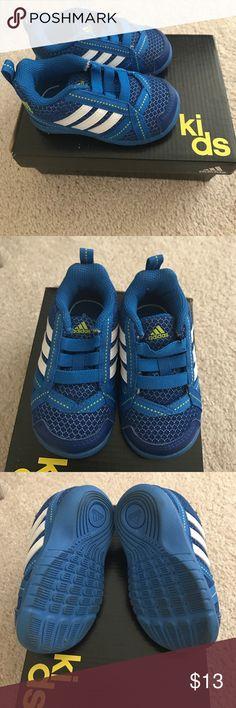 Kids Adidas NatWeb 1 Size 4K Blue Adidas Shoes Sneakers