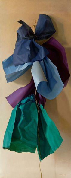 Claudio Bravo (1936-2011), Cuatro papeles azules