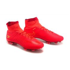 uk availability aebda ac7e8 Baratas 2017 Nike Mercurial Superfly FG CR7 Rojo Negro Zapatos De Soccer