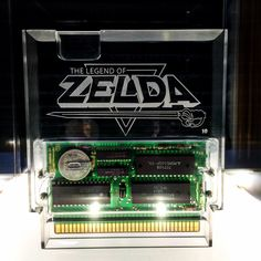 Clear Zelda NES cartridge